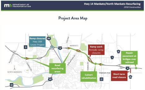 hwy 14 construction map