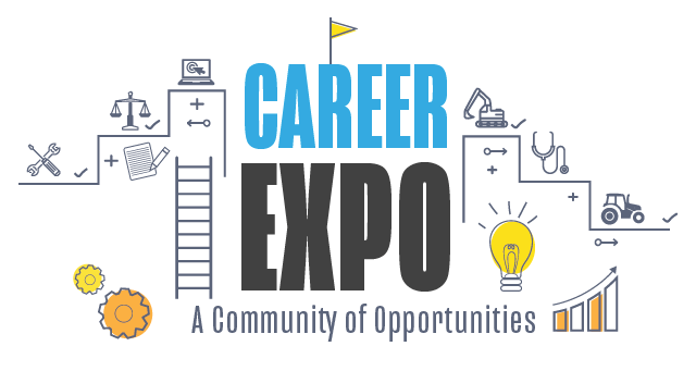 "Career Expo Event Logo stating ""Career Expo: A Community of Opportunities"""